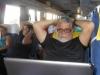 um momento de descontracao no confortavel onibus para Upata na Venezuela